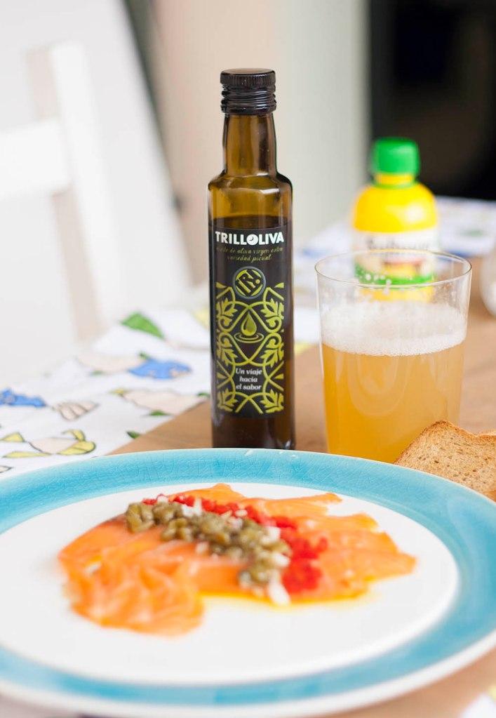 Salmón con vinagreta - Trilloliva