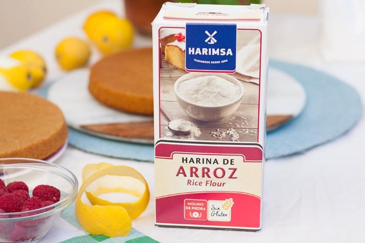 Harina Harimsa - Pastel de harina de arroz de limón y nata (sin gluten)