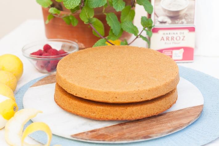 Preparación - Pastel de harina de arroz de limón y nata (sin gluten)