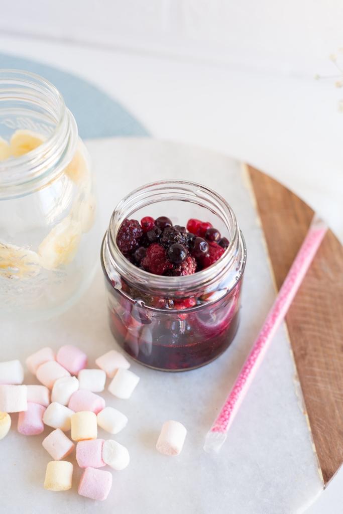 Frutos rojos - Smoothie helado de nubes y frutos rojos