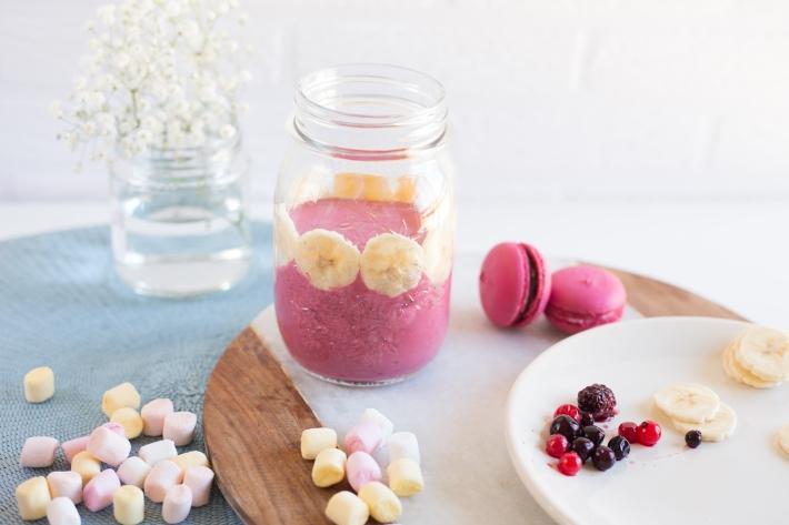 Preparación - Smoothie helado de nubes y frutos rojos